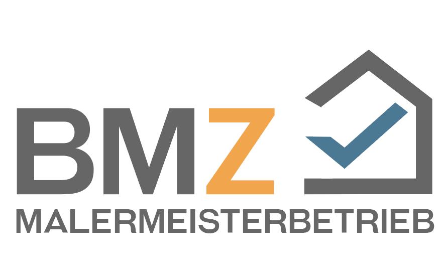 BMZ logo mit Häkchen - Specht am Mauerwerk